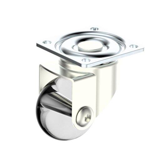 Rodinha Giratoria Silicone 35mm Placa para Moveis HDT