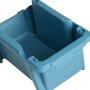 Gaveta Plástica Azul Porta Componentes Nº 3 Empilhável Kala